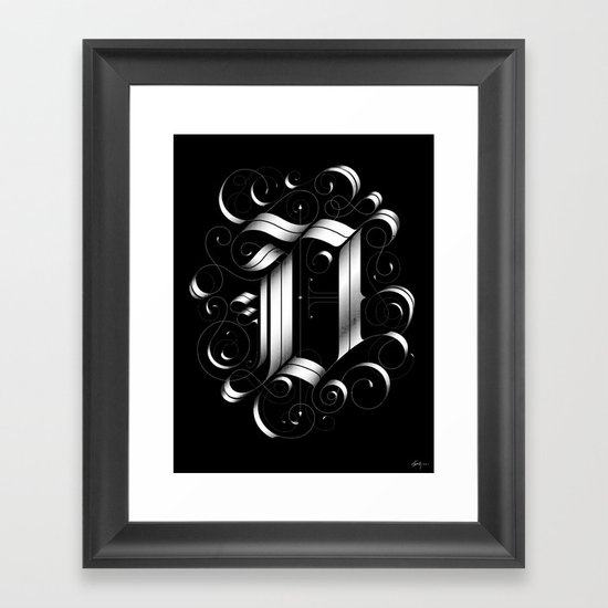 "Drop cap ""D"" Framed Art Print"