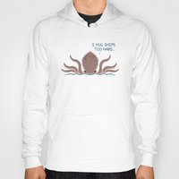 kraken Hoodies featuring Monster Issues - Kraken by Teo Zirinis