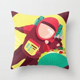Space Taco Throw Pillow