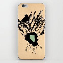 Nevada - State Papercut Print iPhone Skin