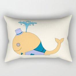 Steampunk Whale (Orange) Rectangular Pillow