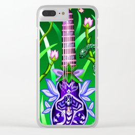 Fusion Keyblade Guitar #108 - Anguis' Keyblade & Pixie Petal Clear iPhone Case