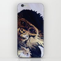 monkey iPhone & iPod Skins featuring MONKEY by SAMHAIN