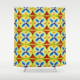 Heraldic Stripe Shower Curtain