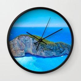 Navagio Beach Greece Wall Clock