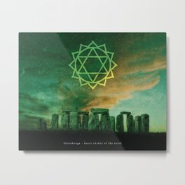 Heart Chakra of the Earth - Stonehenge Metal Print