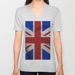 Great Britain flag Unisex V-Neck