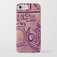 egyptian iPhone & iPod Cases featuring Egyptian (Horus) by Aaron Carberry