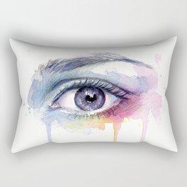 Colorful Eye Dripping Rainbow Rectangular Pillow