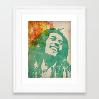 reggae Framed Art Prints featuring reggae poster by Fan Prints