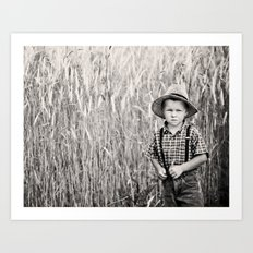 Little farmer Art Print