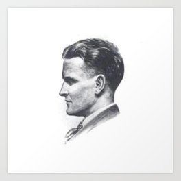 A portrait of F Scott Fitzgerald Art Print