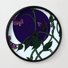 Nightshade Moon Wall Clock