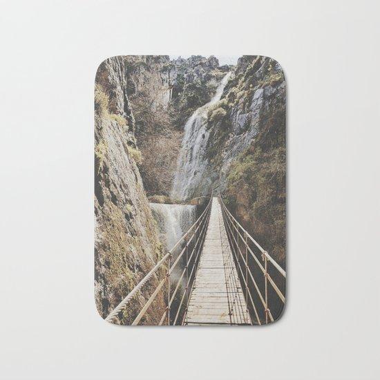 """The Bridge"". At the mountain. Retro Bath Mat"