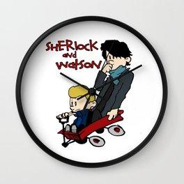 Sherlock and Watson Wall Clock