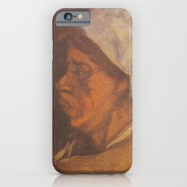 Vincent van Gogh - Head of a Peasant woman with white hood iPhone Case