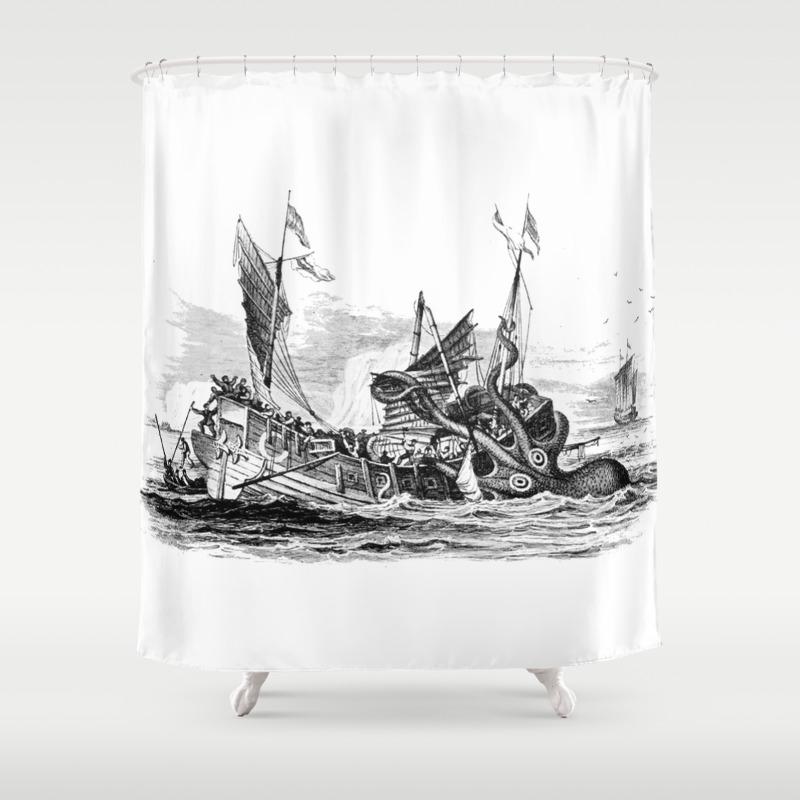 Kraken shower curtain - Kraken Shower Curtain 40