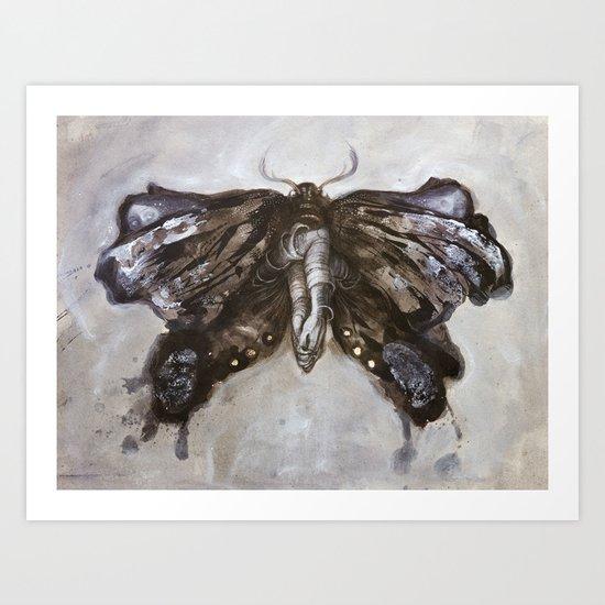 Mirror Moth Art Print