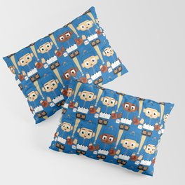 Baseball Blue and Orange - Super cute sports stars Pillow Sham