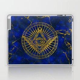All Seeing Mystic Eye in Masonic Compass on Lapis Lazuli Laptop & iPad Skin