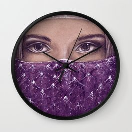 Charming eyes Wall Clock