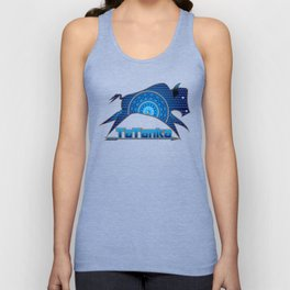 Buffalo Running (Blue) Unisex Tank Top