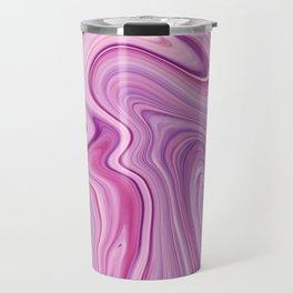 Purple Liquid Marble Travel Mug
