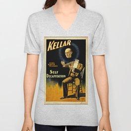 Kellar Self Decapitation Unisex V-Neck
