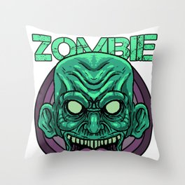 Zombie Monster Beast Infected Rotter Dead-Man Gift  Throw Pillow