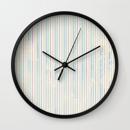 Colorful abstract pastel pink green watercolor stripes Wall Clock