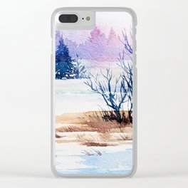 Winter scenery #13 Clear iPhone Case
