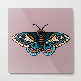 Moth Illustration Metal Print