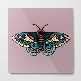 Moth Illustration Metal Print