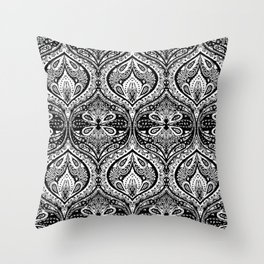 Simple Ogee Black & White Throw Pillow