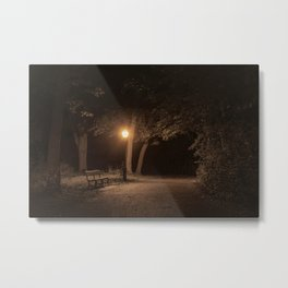 In A City Park At Night, New York City (2020-10-GNY-241) Metal Print
