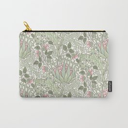 William Morris Pastel Pink Thistle Pattern Carry-All Pouch