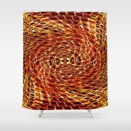 Honey Bee Hive Shower Curtain