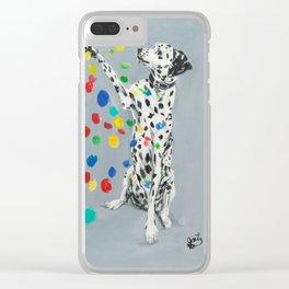Dalmatian Clear iPhone Case