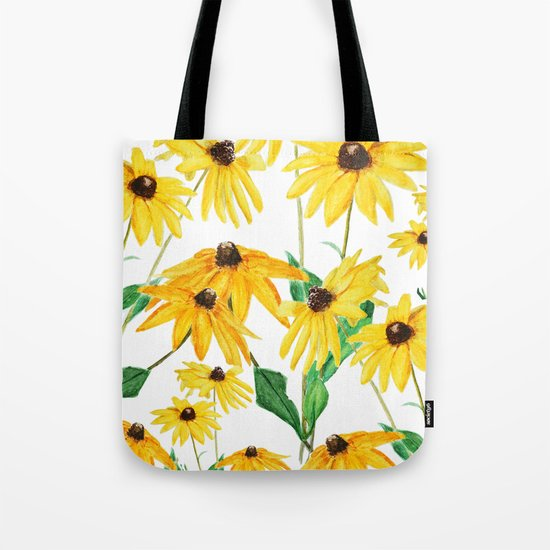 yellow sun choke flower Tote Bag