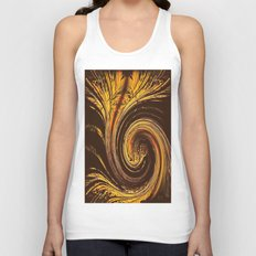Golden Filigree Germination Unisex Tank Top
