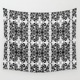 JES' PUZZLED FACE Wall Tapestry
