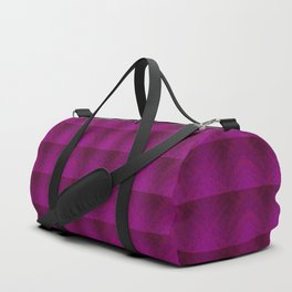 Distortion Plaid (Red Violet) Duffle Bag