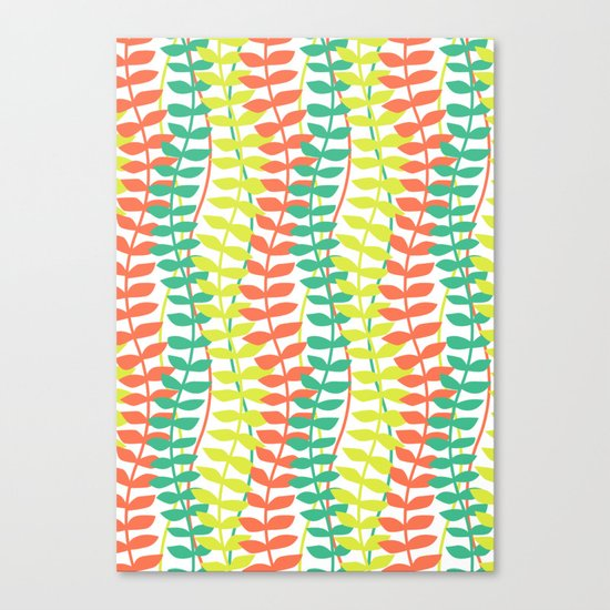 seagrass pattern - tropical Canvas Print