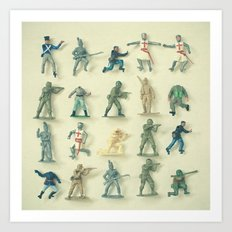 Broken Army Art Print
