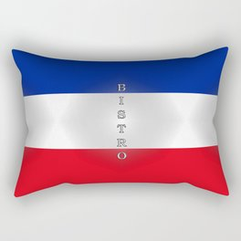 Tricolore Bistro Rectangular Pillow