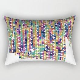 Quarter cirlces Rectangular Pillow