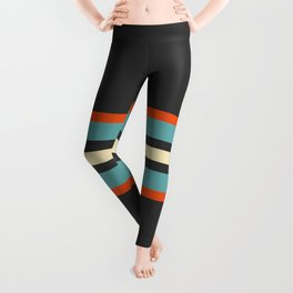 Classic Retro Stripes Amikiri Leggings
