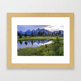 Schwabacher Landing - Grand Teton National Park Framed Art Print