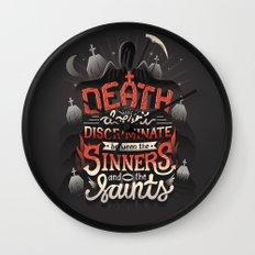 Sinners and Saints Wall Clock