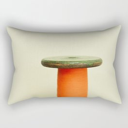 Vintage cotton reel Rectangular Pillow